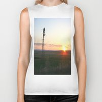montana Biker Tanks featuring Montana Sunset by Kim Ramage