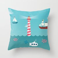 Beside the Seaside Throw Pillow