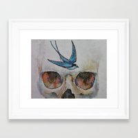 sparrow Framed Art Prints featuring Sparrow by Michael Creese