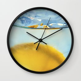 Refreshing Lemon Drink Wall Clock