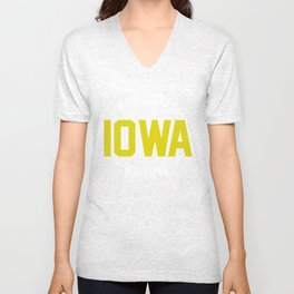 WHO LOVES IOWA? WE LOVE IOWA!  Unisex V-Neck