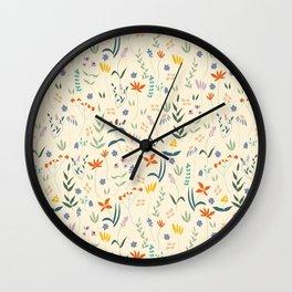 Retro Botanical Wall Clock