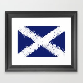 in to the sky, scotland Framed Art Print