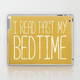 I Read Past My Bedtime (Mustard) Laptop & iPad Skin