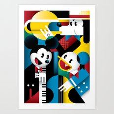 Mickey's Band Art Print