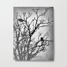 Rustic Crows Black Birds Tree Modern Cottage Chic Art A465B Metal Print