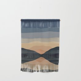 Sunset Mountain Reflection in Water Wall Hanging