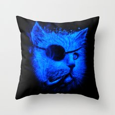 Irie Eye Blue Throw Pillow
