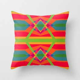 Colorful bright ethnic ornament Throw Pillow