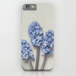 Light Blue Hyacinths iPhone Case