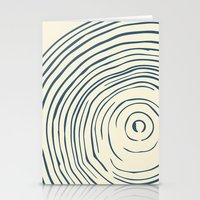 tree rings Stationery Cards featuring Tree Rings by Chase