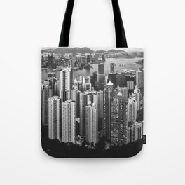 Hong Kong in Black & White Tote Bag