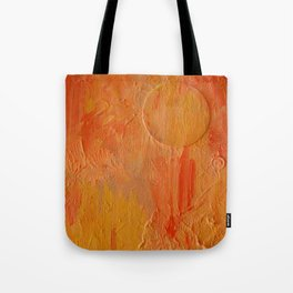 Orange Abstract Painting Tote Bag