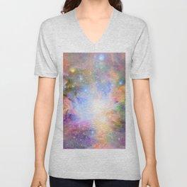 Orion Nebula Colorful Pastel Unisex V-Neck