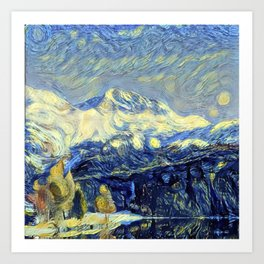"Gogh's by The Bürg Atelier Collection - ""The Valley"" Art Print"
