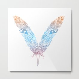 feather butterfly Metal Print