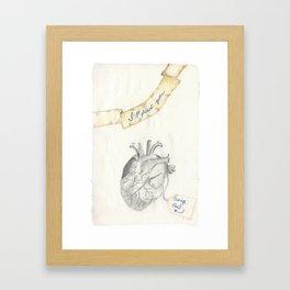 Wise heart Framed Art Print