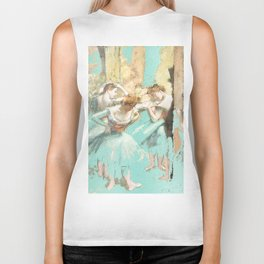 DEGAS DANCERS GOLD AND MINT Biker Tank