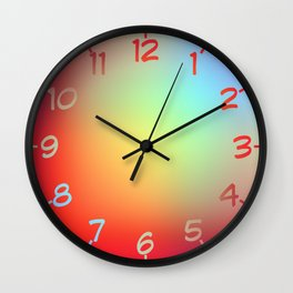 Rainbow Blur Wall Clock
