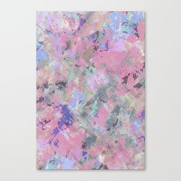 Pink Blush Abstract Canvas Print