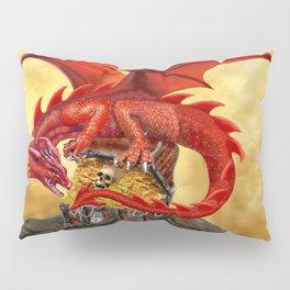 Red Dragon's Treasure Chest Pillow Sham