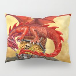 Red Dragon's Treasure Chest Pillow Sham