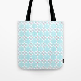 From Hearts Love And Christmas-Cute teal X-Mas Pattern Tote Bag