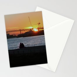 Daybreak on the river Stationery Cards