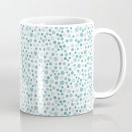 Mint Watercolor Dots - Aqua, Teal, Mint, Blue Coffee Mug