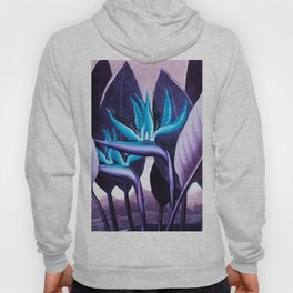 Birds of Paradise Temple of Flora Purple Turquoise Hoody