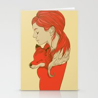 lady Stationery Cards featuring Lady Fox by Huebucket
