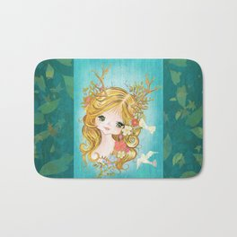 Lovely Lady Of The Woodlands Bath Mat