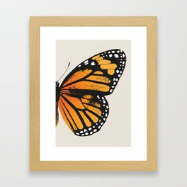 Monarch Butterfly | Right Wing Framed Art Print