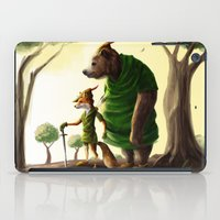 robin hood iPad Cases featuring Robin Hood & Little John by Jehzbell Black