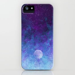 Violet Galaxy: Lunar Eclipse iPhone Case