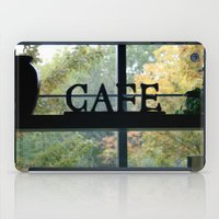 cafe iPad Cases featuring Cafe by Kasia Wo