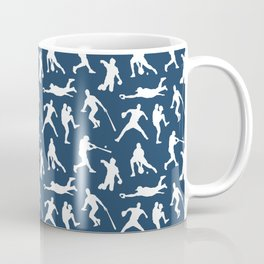 Baseball Players // Navy Coffee Mug
