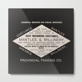 Economical Mourning and Funeral Warehouse  Metal Print