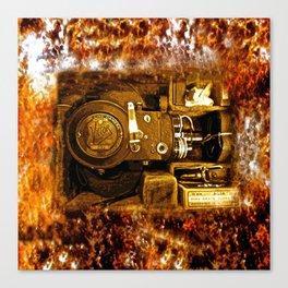 Vintage Victor Camera HDR Canvas Print