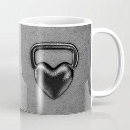 Kettlebell heart / 3D render of heavy heart shaped kettlebell Coffee Mug