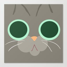 Cat Face 5 Canvas Print