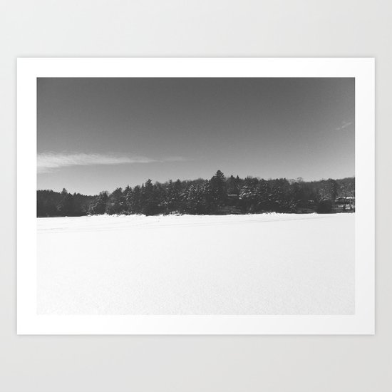 Kenisis Lake winter Art Print