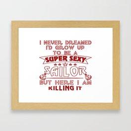 Super Sexy Sailor Framed Art Print