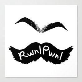 RwnlPwnl Mustache Canvas Print