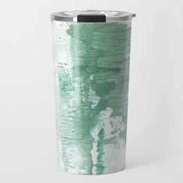 Dark sea green vague watercolor Travel Mug