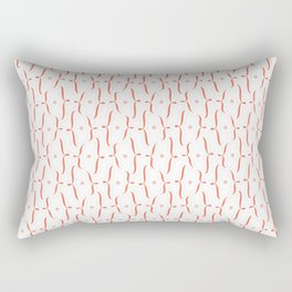 Bracket Orange Rectangular Pillow