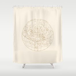 Visible Heavens - Gold Shower Curtain