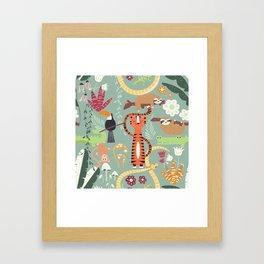 Rain forest animals 001 Framed Art Print