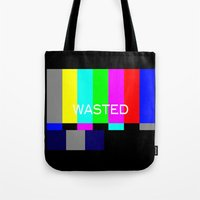 wasted rita Tote Bags featuring Wasted by Λdd1x7