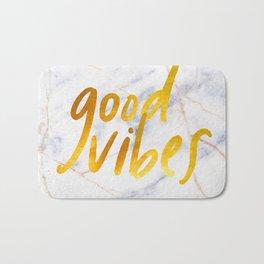Good Vibes - Golden Lettering on Luxury Marble Bath Mat